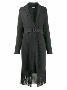 Brunello Cucinelli ribbed knit cardigan coat - Grey