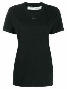 Off-White rhinestone arrow logo T-shirt - Black