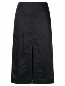 Jil Sander front slit midi skirt - Blue