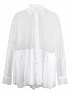 Brognano sheer loose-fit shirt - White