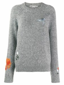 Stella McCartney animal and floral print motifs sweater - Grey
