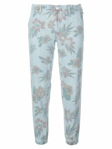 Mother cropped floral trousers - Blue