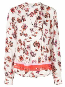 Derek Lam 10 Crosby French floral print blouse - White