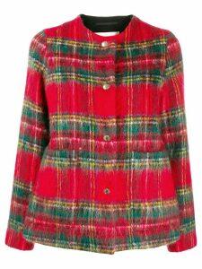 Mackintosh BETTYHILL Royal Stewart Wool & Mohair Collarless Jacket