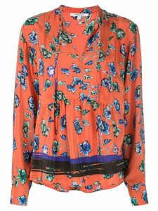 Derek Lam 10 Crosby French floral print peplum blouse - Red