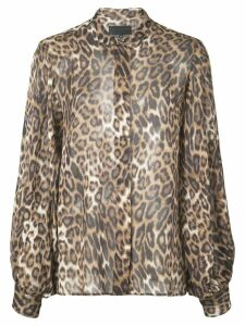 Nili Lotan leopard print shirt - Brown