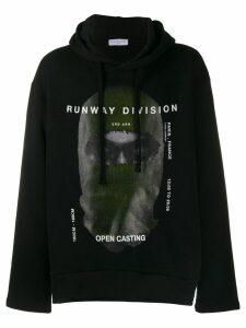 Ih Nom Uh Nit printed Runway Division hoodie - Black
