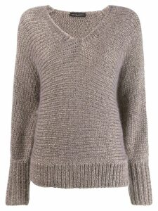 Fabiana Filippi v-neck jumper - NEUTRALS