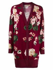 Twin-Set floral intarsia cardigan - Purple