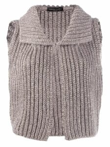Fabiana Filippi knitted sleeveless cardigan - Neutrals