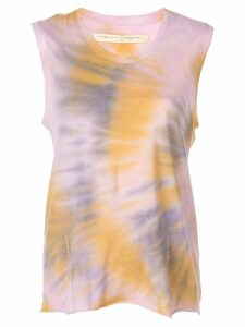 Raquel Allegra tie-dye muscle tank top - PURPLE