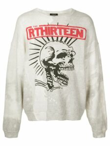 R13 graphic printed sweatshirt - White