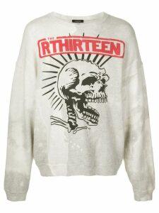 R13 graphic printed sweatshirt - White