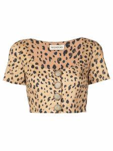 Nicholas leopard print blouse - Brown