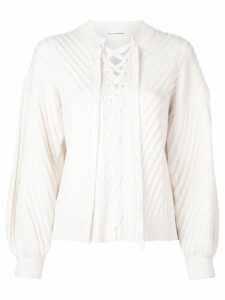 Ulla Johnson lace-up jumper - White