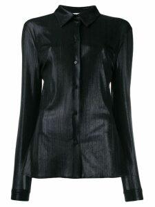 MSGM metallized long-sleeved shirt - Black