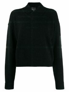 Erika Cavallini v-neck sweater - Black