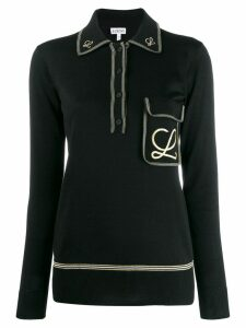 Loewe embroidered L polo shirt - Black