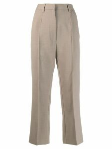 Mm6 Maison Margiela cropped tailored trousers - NEUTRALS