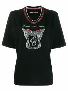 Ermanno Scervino embroidered T-shirt - Black
