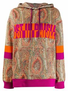 Etro paisley print hoodie - ORANGE