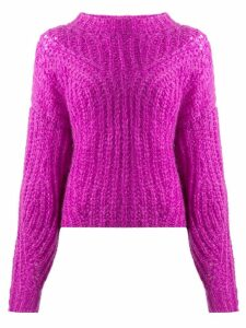 Isabel Marant chunky knit sweater - PURPLE