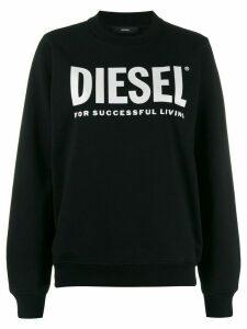 Diesel logo print sweatshirt - Black