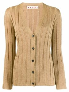 Marni knitted button-front cardigan - Brown