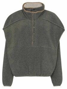 Y/Project double-layer fleece sweatshirt - Grey