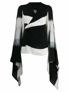 Rick Owens striped wrap top - Black