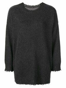 R13 boxy distressed sweater - Grey