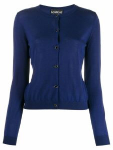 Boutique Moschino clover button cardigan - Blue