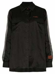 Heron Preston double-layer silk shirt - Black