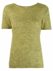 Société Anonyme short sleeve knitted top - Green