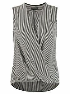 Rag & Bone striped wrap vest top - Black