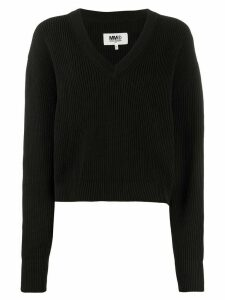 Mm6 Maison Margiela ribbed jumper - Black
