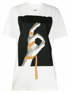 Mm6 Maison Margiela graphic print T-shirt - White