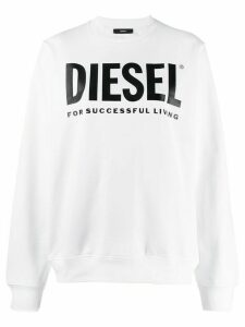 Diesel logo print sweatshirt - White