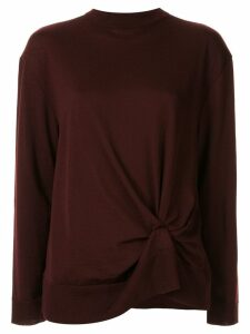 Nina Ricci knot detail jumper - Brown