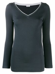 Brunello Cucinelli v-neck sweater - Blue