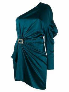 Alexandre Vauthier gathered one-shoulder mini dress - Blue