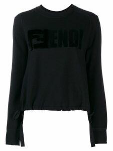 Fendi FFendi logo sweatshirt - Black