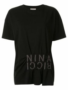 Nina Ricci embroidered logo T-shirt - Black