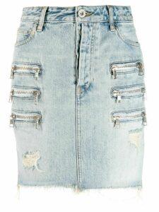 Unravel zip pocket denim shirt - Blue