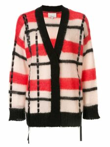 3.1 Phillip Lim striped ribbon stitch cardigan - Red