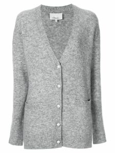 3.1 Phillip Lim faux pearl button cardigan - Grey