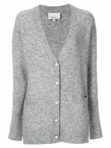 3.1 Phillip Lim faux pearl button cardigan - Grey