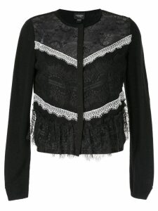 Giambattista Valli lace insert cardigan - Black