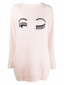 Chiara Ferragni winking knitted jumper - Pink