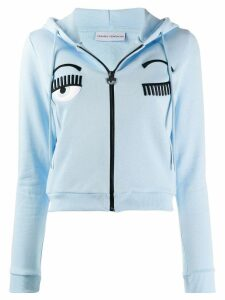 Chiara Ferragni zip-up sweatshirt - Blue